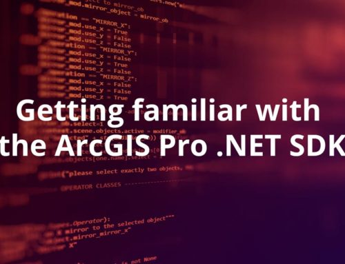 Getting familiar with the ArcGIS Pro .NET SDK